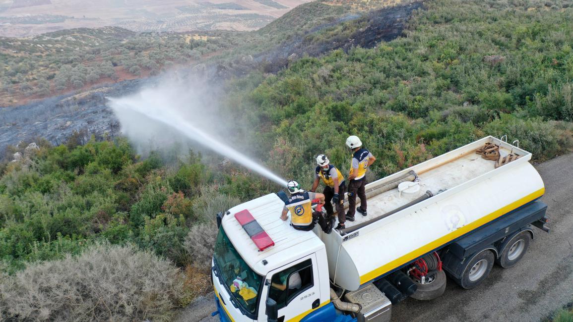 الدفاع المدني السوري يُحصِي مئات الحرائق في شمالي سورية منذ بداية العام الحالي