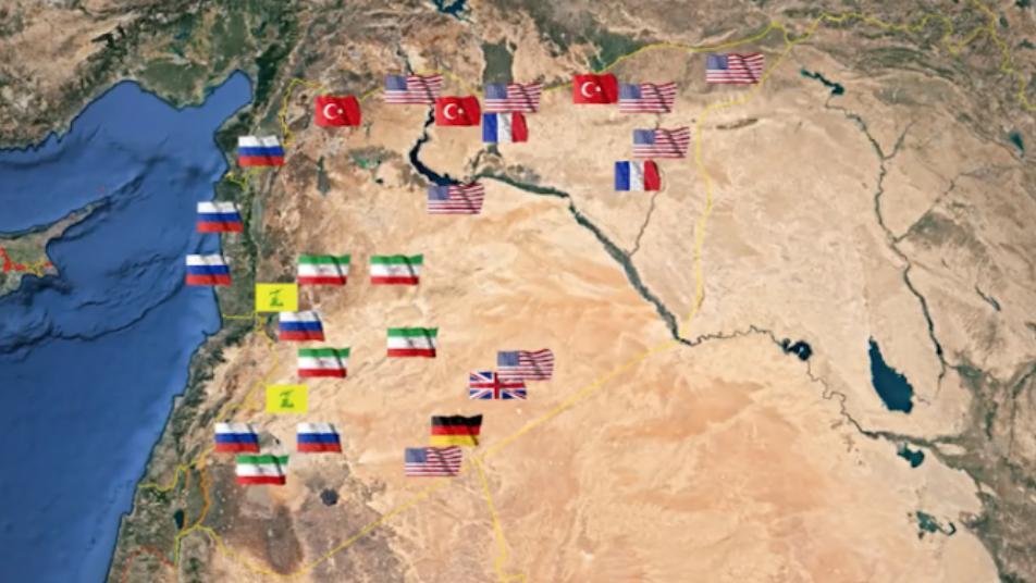 """رقم """"كبير"""".. مركز دراسات يُحصي عدد القواعد الأجنبية في سوريا"""