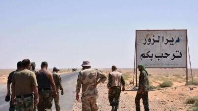 غارات جوية تستهدف مواقع الميليشيات الإيرانية في مدينة الميادين شرقي دير الزور