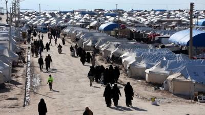 """عِدَّة عائلات تستعدّ لمغادرة مخيم """"الهول"""""""