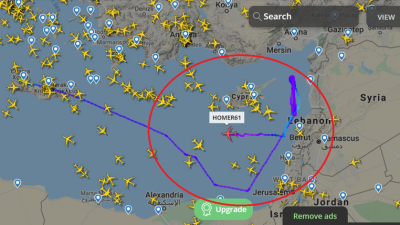 طائرة أمريكية تستطلع الساحل السوري