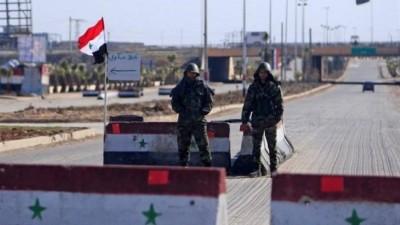 المخابرات الجوية تزيل حاجزاً في بلدة الغارية الشرقية