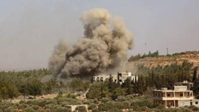 طائرات روسية تستهدف محيط نقطة عسكرية تركية جنوب إدلب