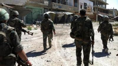 عاجل ||انتشار كبير لعناصر فرع الامن العسكري على اطراف منطقة السبينة جنوب دمشق ,على خلفية العثور على جثة احد الضباط.