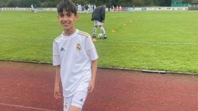 وصول محمد عثمان ابن مدينة عامودا إلى الاختبار النهائي لأكاديمية ريال مدريد