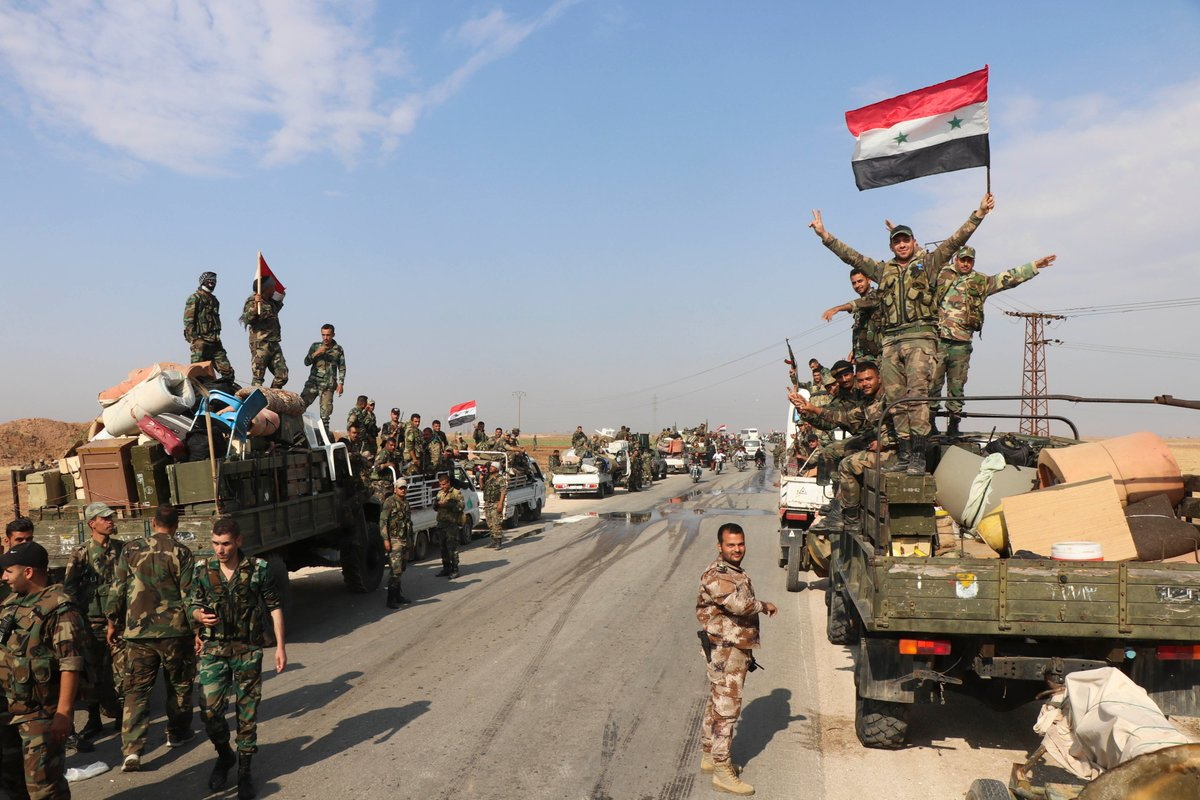 """قوات الأسد تدخل بلدة """"المزيريب"""" بريف درعا لإجراء التسويات"""