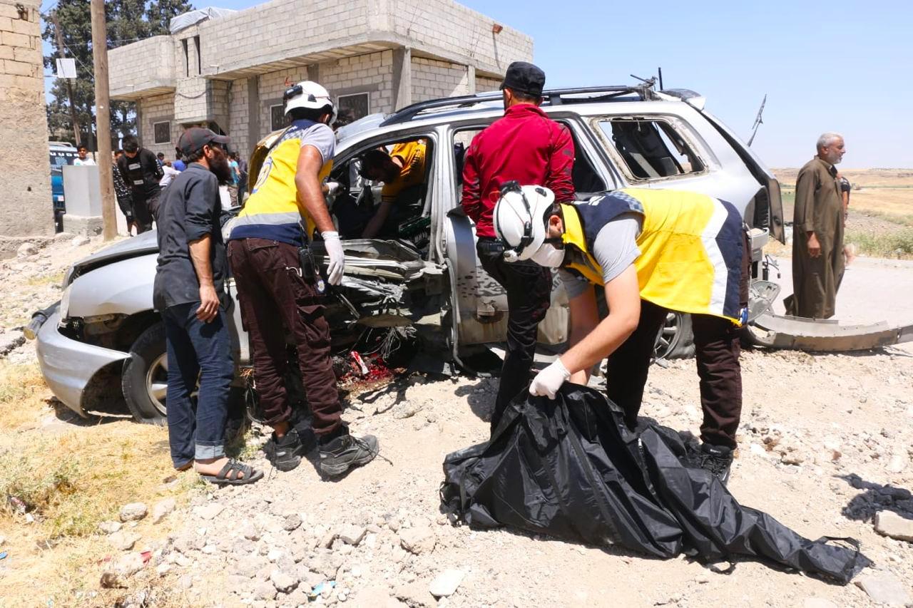 ضحايا مدنيون بتفجير انتحاري شرق حلب