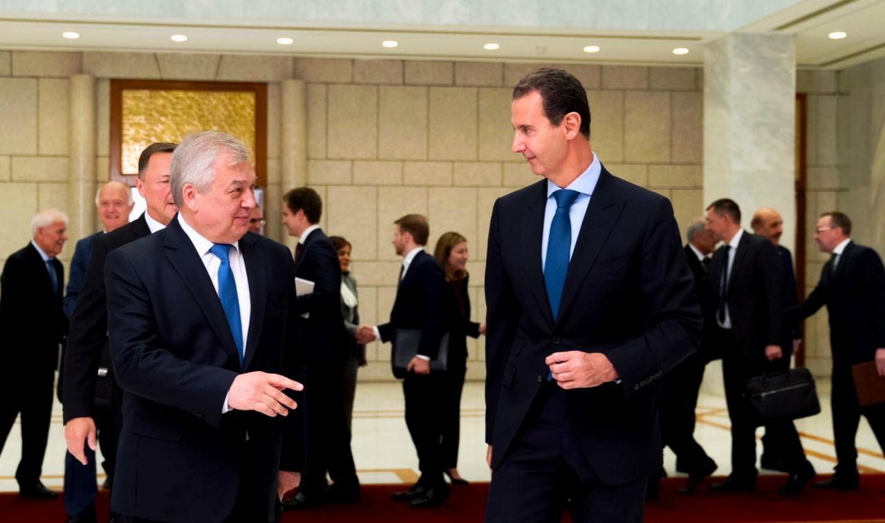 """""""لافرنتييف"""" يلتقي """"بشار الأسد"""" في دمشق قبل اجتماع سري مع واشنطن"""