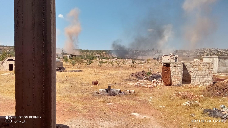 قصف مكثف بالقذائف الصاروخية من قِبل النظام يستهدف جنوب إدلب