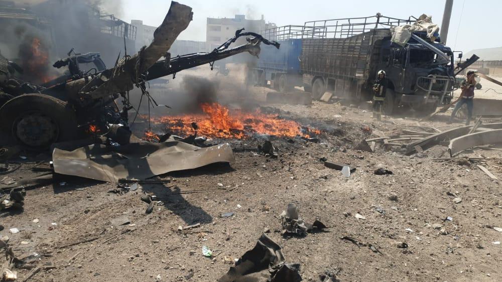 إصابات في انفجار سيارة مفخخة في أعزاز شمال حلب