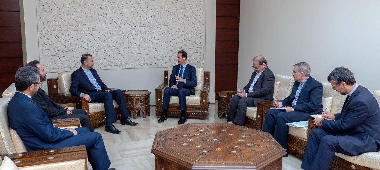 إيران والنظام السوري تتعهّدان بمواجهة العقوبات الأمريكية