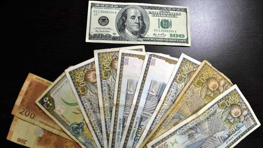سعر صرف الليرتين السورية والتركية أمام الدولار الأمريكي