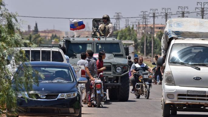 """قوات النظام تدخل بلدة المزيريب وتبدأ بتنفيذ اتفاق """"التسوية"""""""