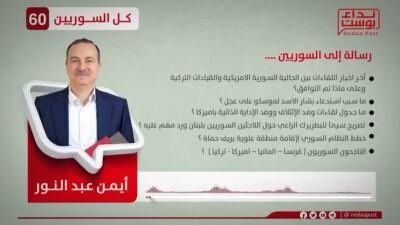 """عبر """"نداء بوست"""".. أيمن عبد النور يوجه الرسالة رقم 60 للسوريين"""
