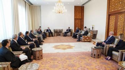 بشار الأسد يبحث مع عبد اللهيان تعزيز العلاقات مع إيران