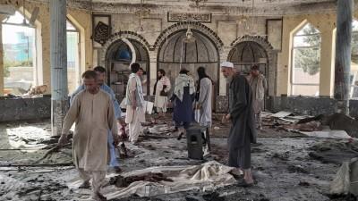 """عاجل ll تنظيم """"داعش"""" يعلن مسؤوليته عن التفجير الذي استهدف مسجداً في قندهار الأفغانية وأودى بحياة 62 شخصاً"""