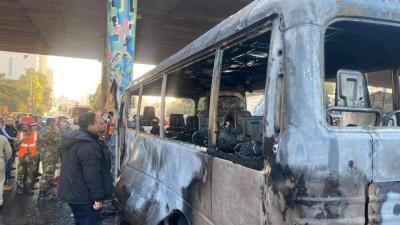 """عاجل ll مراسل """"نداء بوست"""": مقتل 13 عنصراً من قوات النظام السوري وإصابة 3 آخرين إثر انفجار عبوتين ناسفتين بحافلة مبيت في"""
