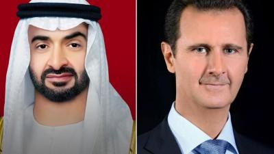 عاجل ll بشار الأسد يجري اتصالاً هاتفياً مع ولي عهد أبو ظبي محمد بن زايد آل نهيان