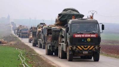 الجيش التركي يدخل رتلاً ضخماً إلى إدلب