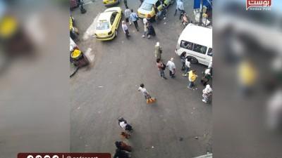 """عدسة """"نداء بوست"""" ترصد الازدحام في ركوب وسائل النقل في منطقة """"جسر الرئيس"""" بالعاصمة دمشق"""