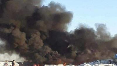 مرة أخرى.. النيران تندلع في مخيم الهول