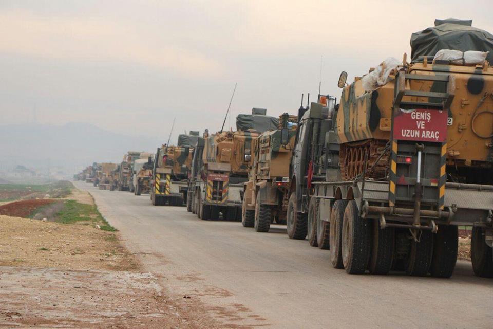 دخول رتل عسكري تركي إلى إدلب