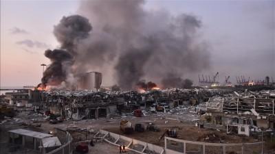 بوتين يربط انفجار مرفأ بيروت بأطماع ومكاسب مالية